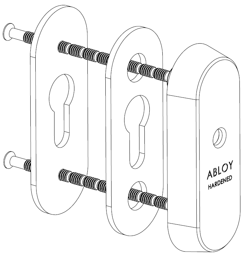 CH102 - Euro Narrow Escutcheon